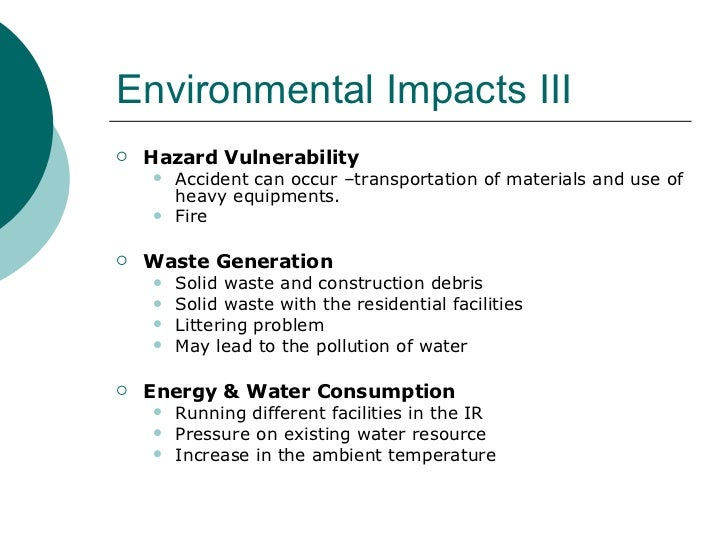 environmental assessment essay Deat (2004) environmental management plans, integrated environmental management, information series 12,  environmental assessment field from a.