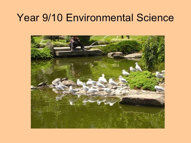 Year 9/10 Environmental Science
