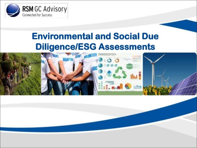 Environmental and Social Due Diligence/ESG Assessments