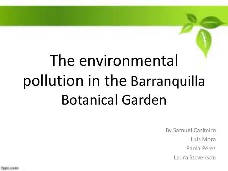 The environmental pollution in the Botanical Garden of Barranquilla<br />By Samuel Casimiro<br />Luis Mora <br />Paola Pér...