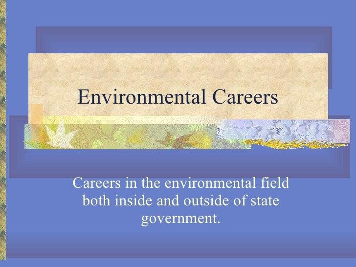 Environmental careers