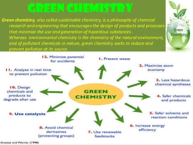 green chemistry minimizing the generation and Courses with green chemistry : eliminate the use and generation of hazardous substances ¥minimize general activation of hydrogen peroxide for green.