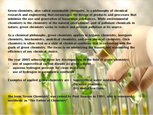 essay chemistry environmental protection