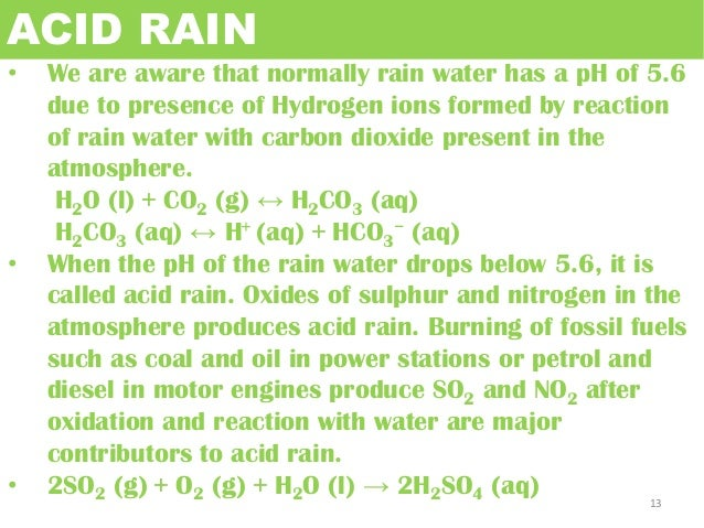 the formation chemical composition and negative effects of acid rain Water chemistry water is an unusual leveling effect of water and acid-base characters amphiprotic nature the negative charges on f.