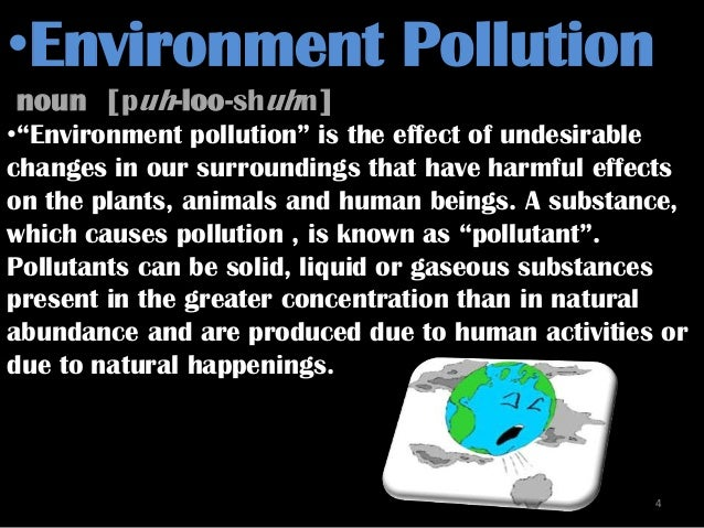 Effects of acid rain on the environment