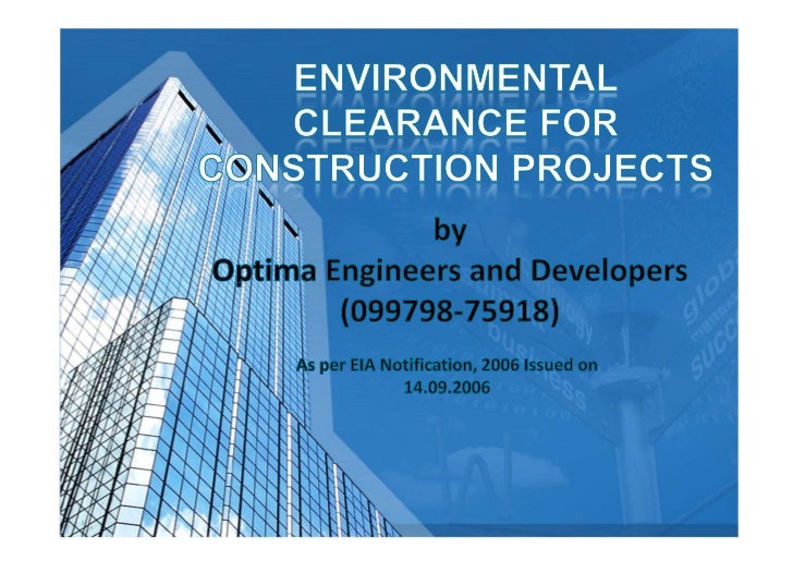 Environmental clearance for construction projects optima