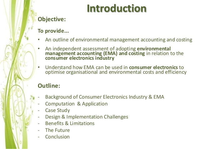 environmental accounting essay Usefulness of environmental management accounting to today's organization develop and outline a balance scorecard for a fictitious mining company.