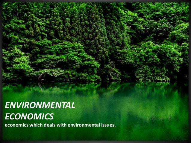 ENVIRONMENTAL ECONOMICS economics which deals with environmental issues.
