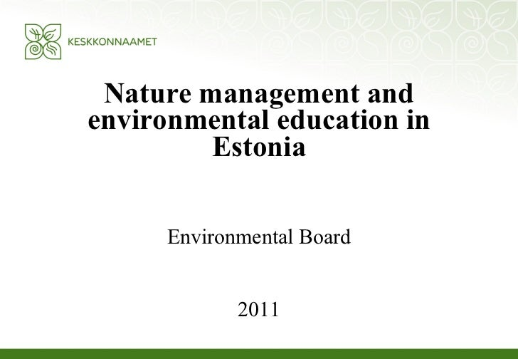 Environmental educ. in est