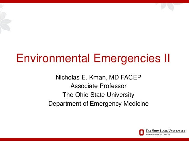 Ohio ACEP Board Review: Environmental Emergencies II