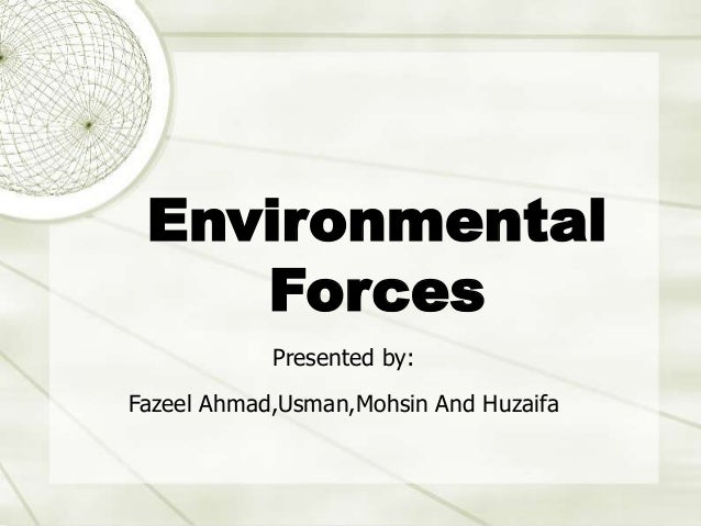 Introduction to UNIX Karl Harrison September 2004 Environmental Forces Presented by: Fazeel Ahmad,Usman,Mohsin And Huzaifa