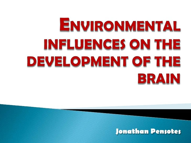 Environmental Influences on theDevelopment of the Brain<br />Jonathan Pensotes<br />