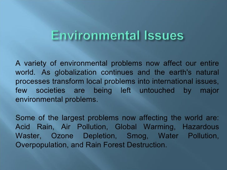 essay environmental problems