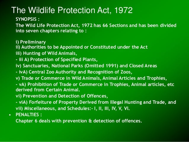 What is a good argument about wildlife protection vs. rights of developers?