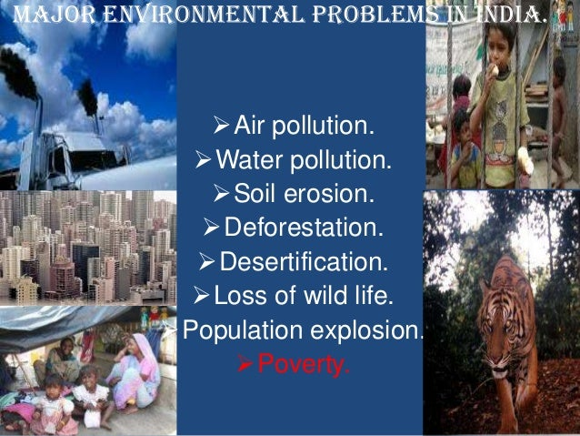 essay on environmental problems in india Some important environmental problems in india and their remedies dimensions of environmental threats 378 rapid increase in population and mismanagement have caused a severe decline in our natural.