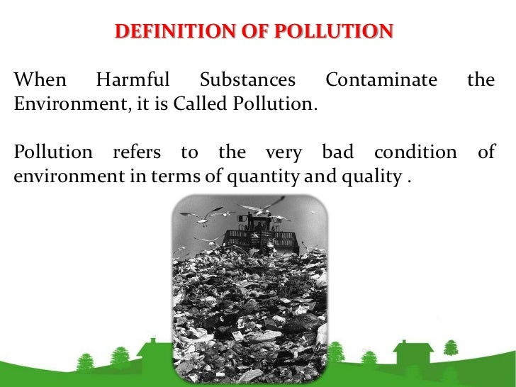 environmental pollution research paper This paper will discuss the problem of environmental pollution and waste management everything that surrounds us is directly or indirectly connected to the environment.