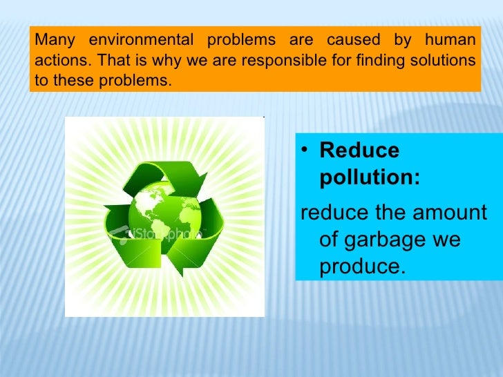 solution of environmental problems essay