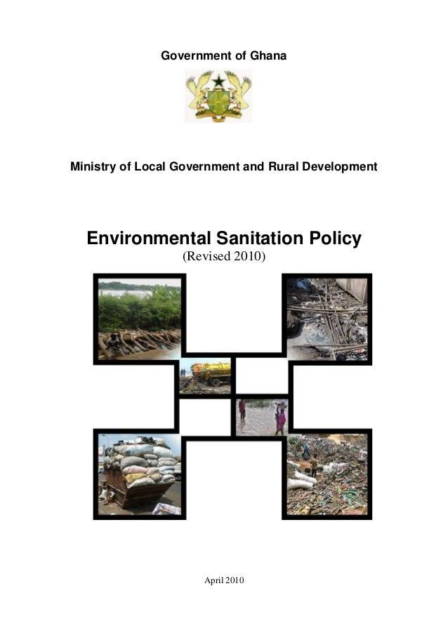 Environmental sanitation policy of Ghana