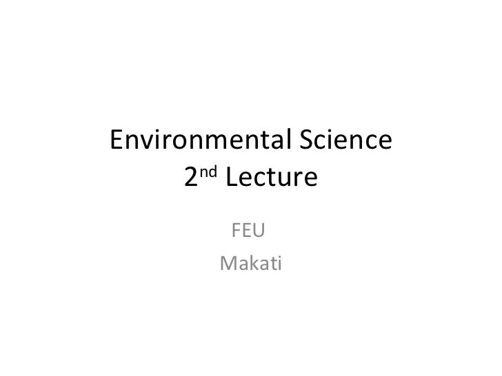 Environmental science 2nd lecture