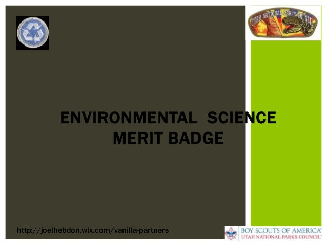 Environmental Science Merit Badge Boy Scouts by Joel ...