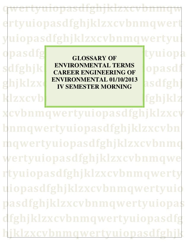 Environmental terms dictionary glossary