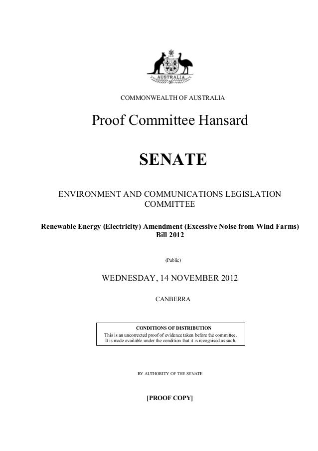COMMONWEALTH OF AUSTRALIA              Proof Committee Hansard                                    SENATE     ENVIRONMENT A...