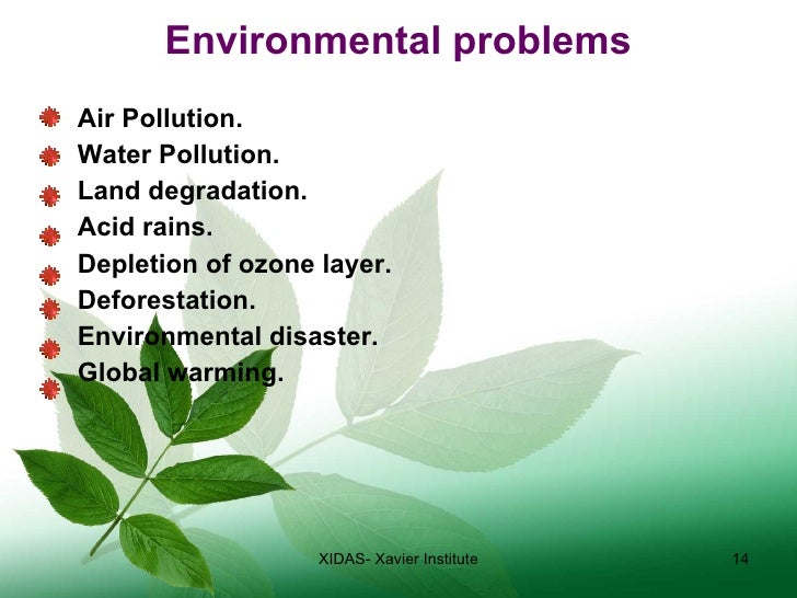 environmental problems essay However, the increasing of environmental issues isn't still solved, and one of the most important problems is the pollution it's defined,  pollution is the introduction of contaminants into a natural environment that causes instability, disorder, harm or discomfort to the ecosystem ie physical systems or living organisms (en.