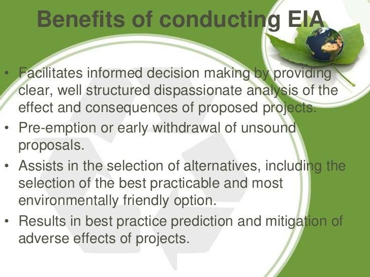 1-6 Costs and benefits of EIA - raymondsumouniversity.com