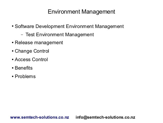 An introduction to environment management