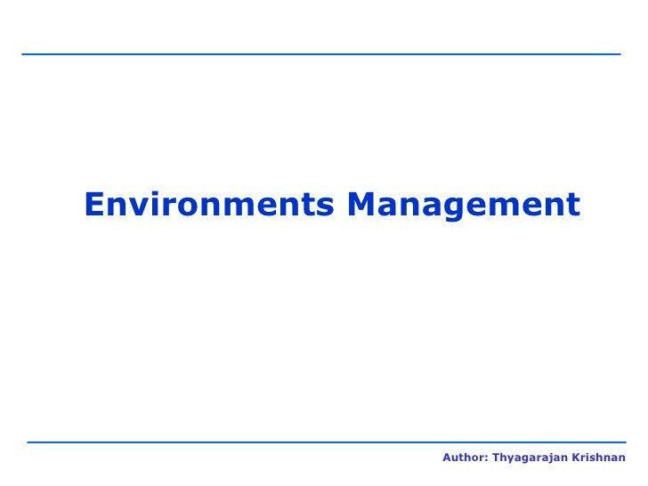 Environments Management
