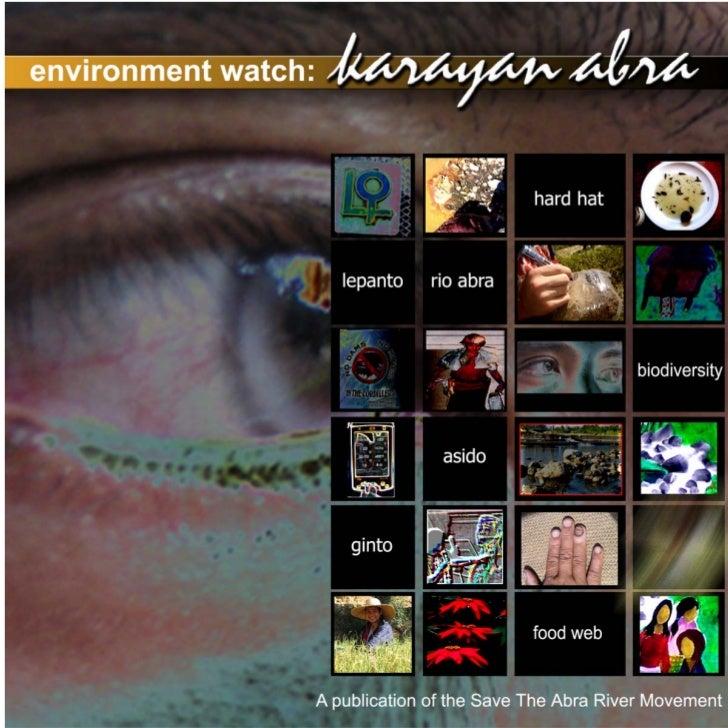 Environment Watch Karayan Abra - Save The Abra River Movement (STARM)
