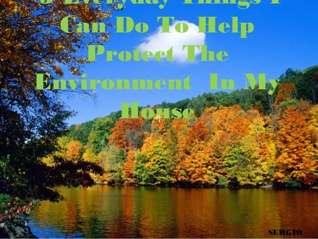 5 Everyday Things I Can Do To Help Protect The Environment In My House  SERGIO