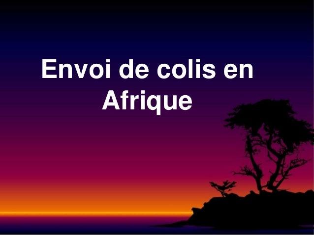 Envoi de colis en Afrique