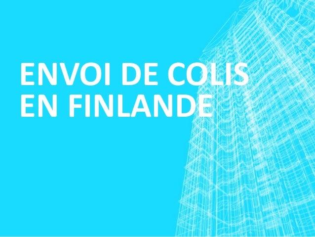 ENVOI DE COLIS EN FINLANDE