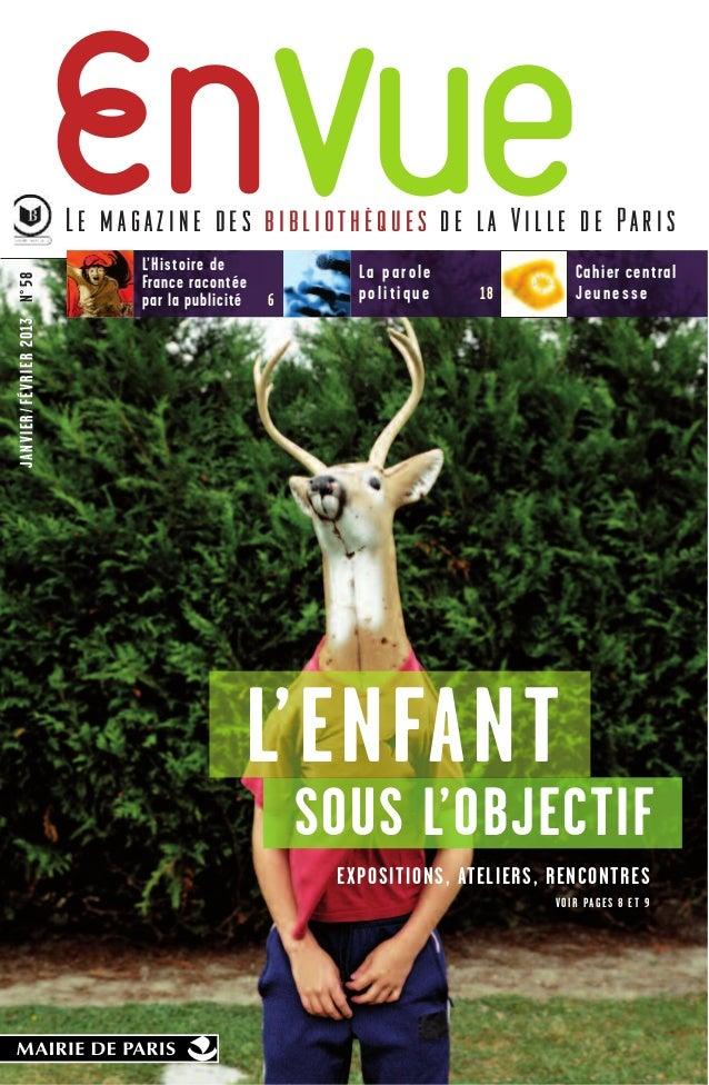 Le magazine des bibliothèques de la Ville de Paris                                     L'Histoire de             La parole...