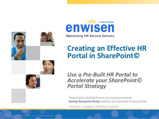 Creating an Effective HR                                                 Portal in SharePoint©                            ...