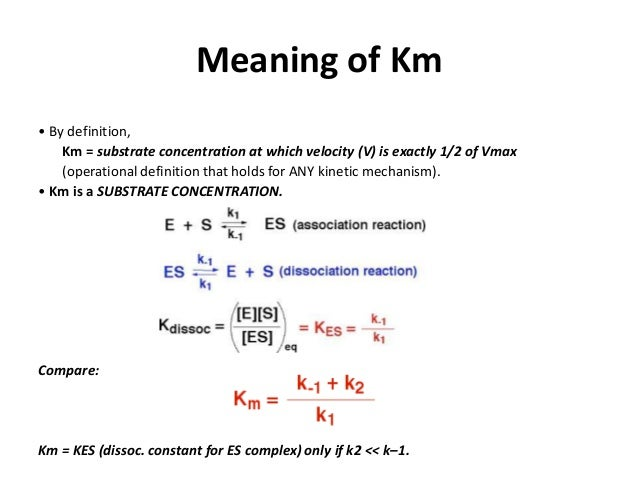 km and kcat relationship help