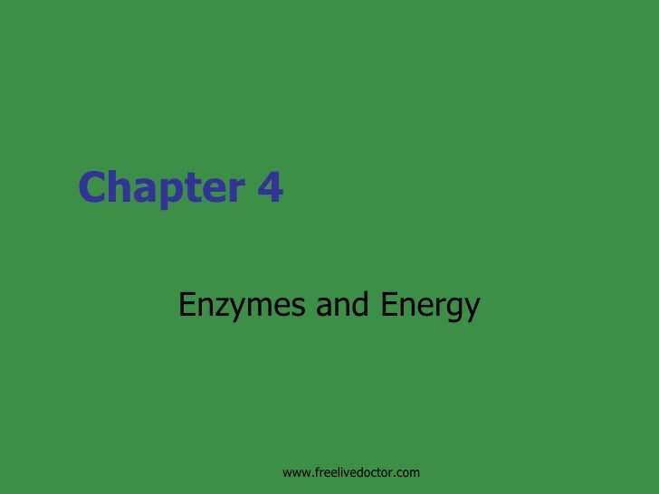 Chapter 4 Enzymes and Energy www.freelivedoctor.com