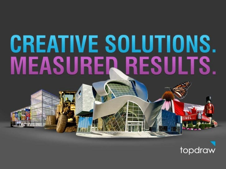 Top Draw • Online advertising agency since 1995 • Make websites that connect our   clients with their customers    • Right...