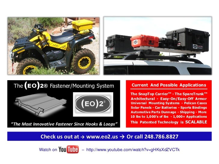 The (EO)2® Fastener/Mounting System                   Current And Possible Applications                                   ...