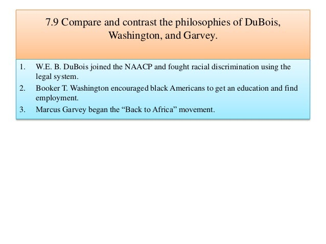 e.b. dubois and booker t. washington compare and contrast essay