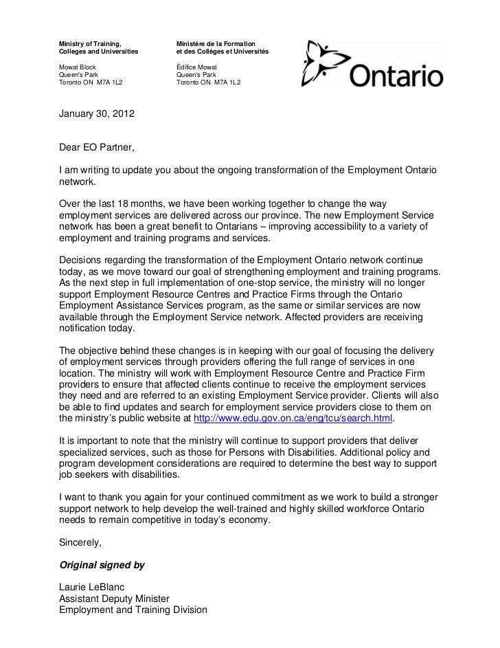 Employment Ontario cuts ERCs & Practice Firms jan 30_12