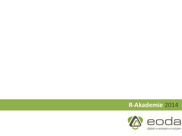 eoda R-Akademie 2014