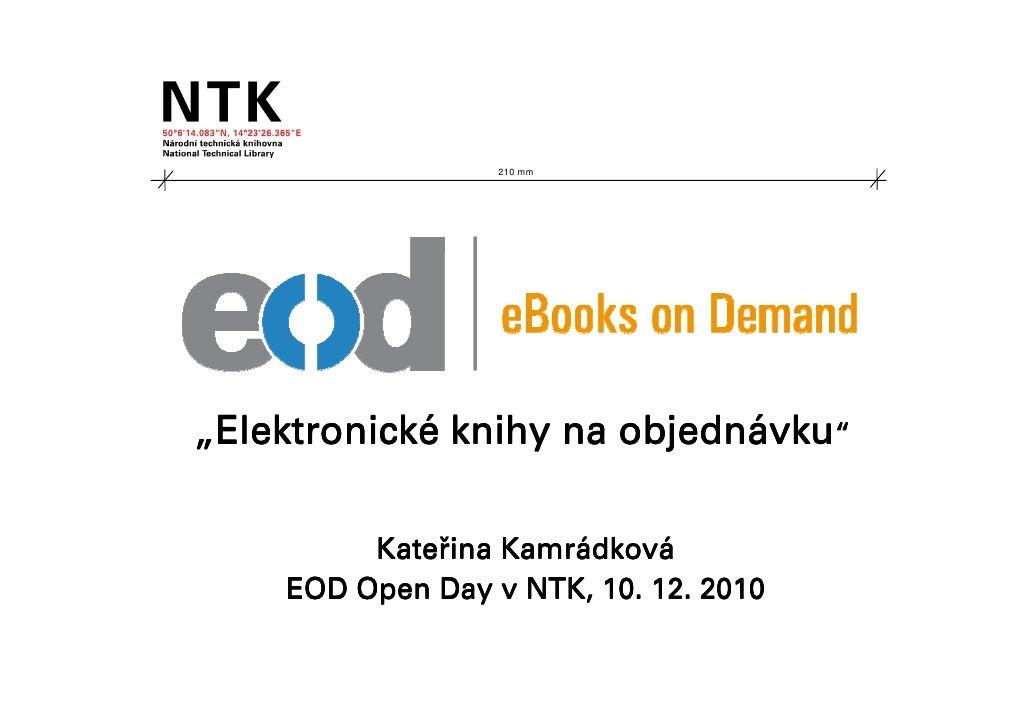 """210 mm""""Elektronické knihy na objednávku"""" Elektronické          objedná         Kateř         Kateřina Kamrádková          ..."""