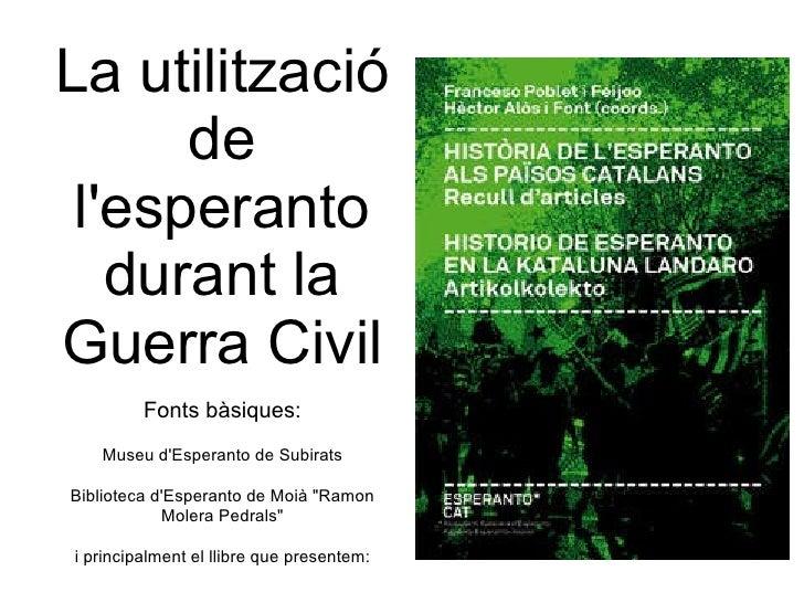 Ús de l'esperanto a la Guerra Civil Espanyola