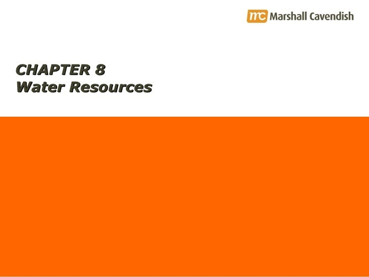 CHAPTER 8 Water Resources