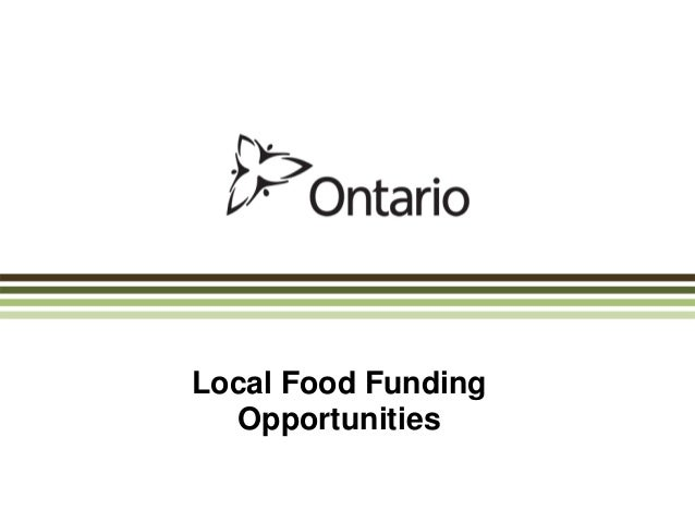 Local Food Funding Opportunities