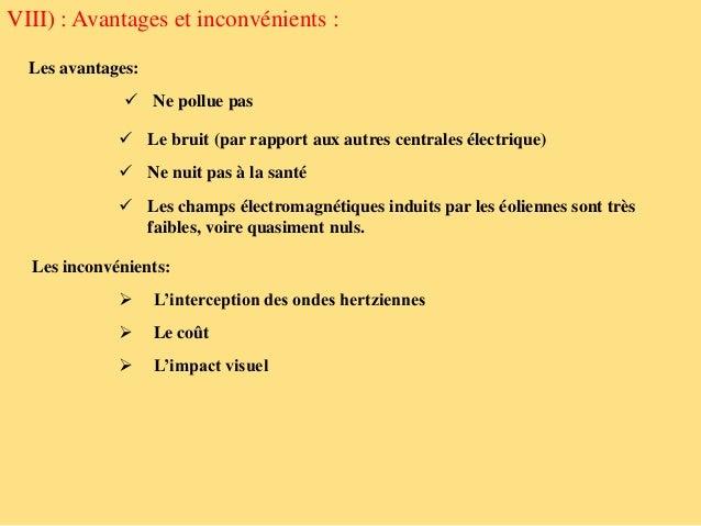 Eolienne - Centrale hydraulique avantages et inconvenients ...