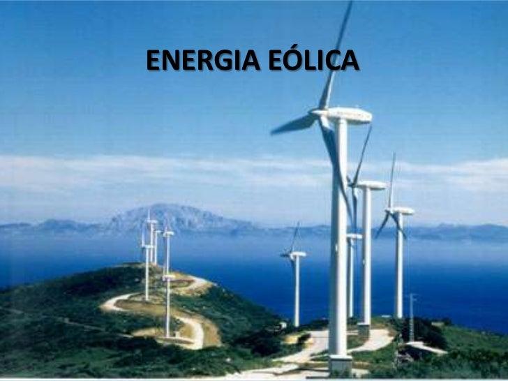 ENERGIA EÓLICA<br />