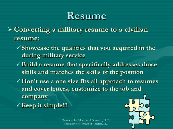 Military Resume Writing Services  Military To Civilian Resume Writers